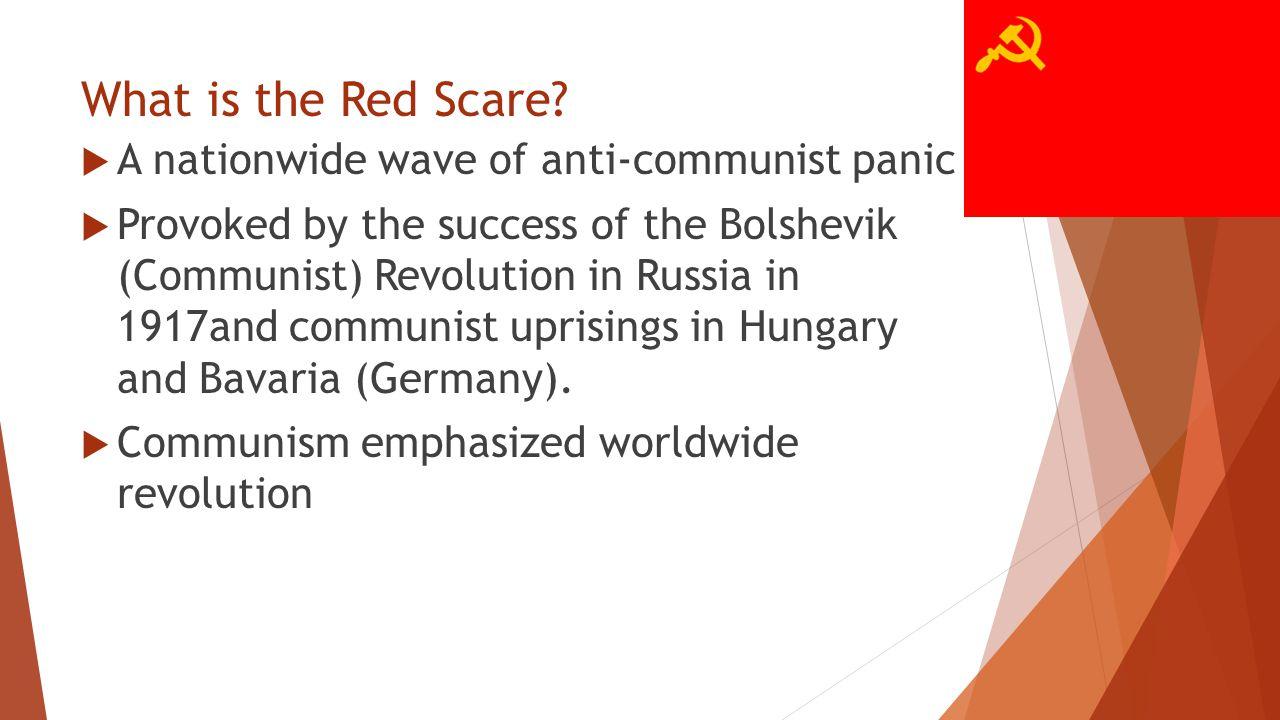 Why were we so afraid of communism in 1919-1920.