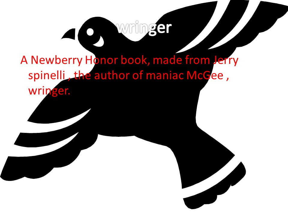 A Newberry Honor book, made from Jerry spinelli, the author of maniac McGee, wringer.