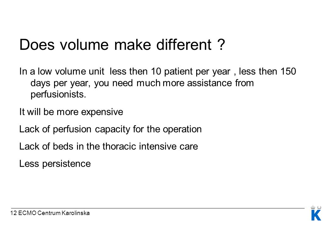 Does volume make different .