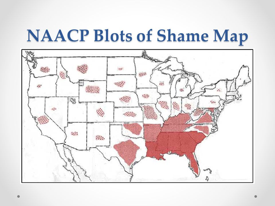 NAACP Blots of Shame Map