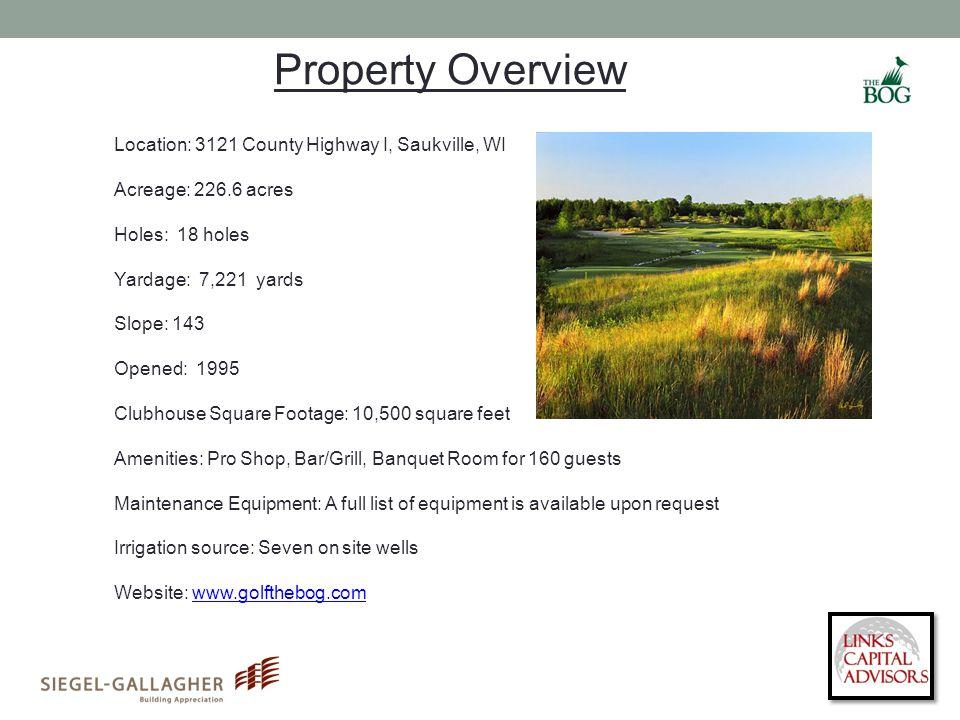 Location: 3121 County Highway I, Saukville, WI Acreage: 226.6 acres Holes: 18 holes Yardage: 7,221 yards Slope: 143 Opened: 1995 Clubhouse Square Foot