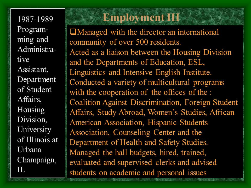 Sabbatical in Florida International University (2001-2) 1.