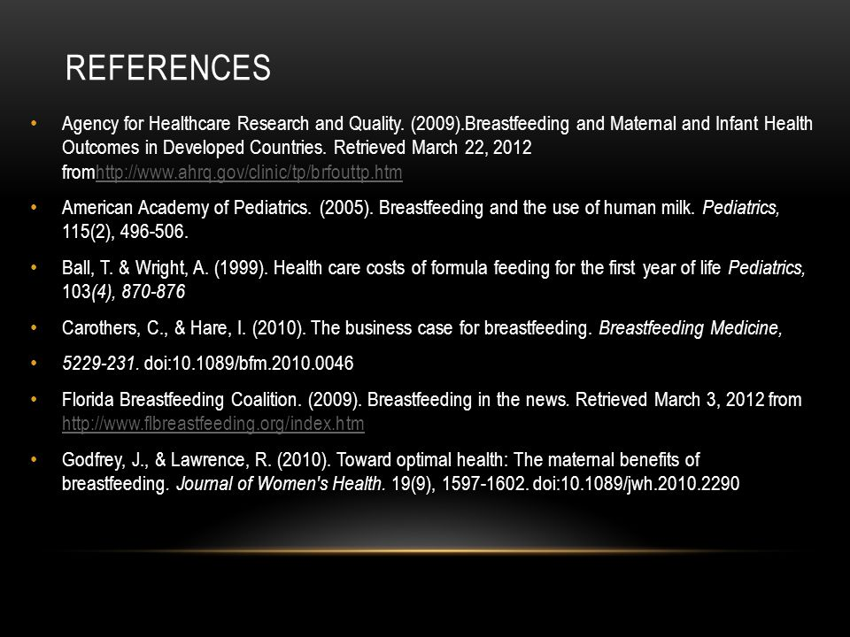 REFERENCES Agency for Healthcare Research and Quality.