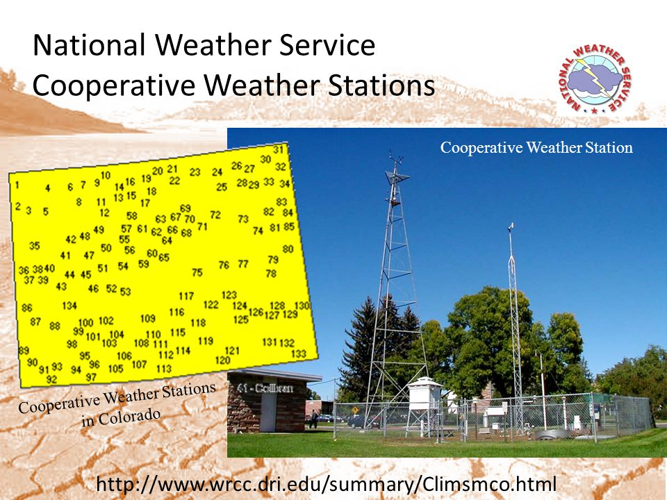 Drought Monitoring Resources Colorado Climate Center: Weekly webinars (during peak SWE/runoff) to assess current conditions and make USDM changes.