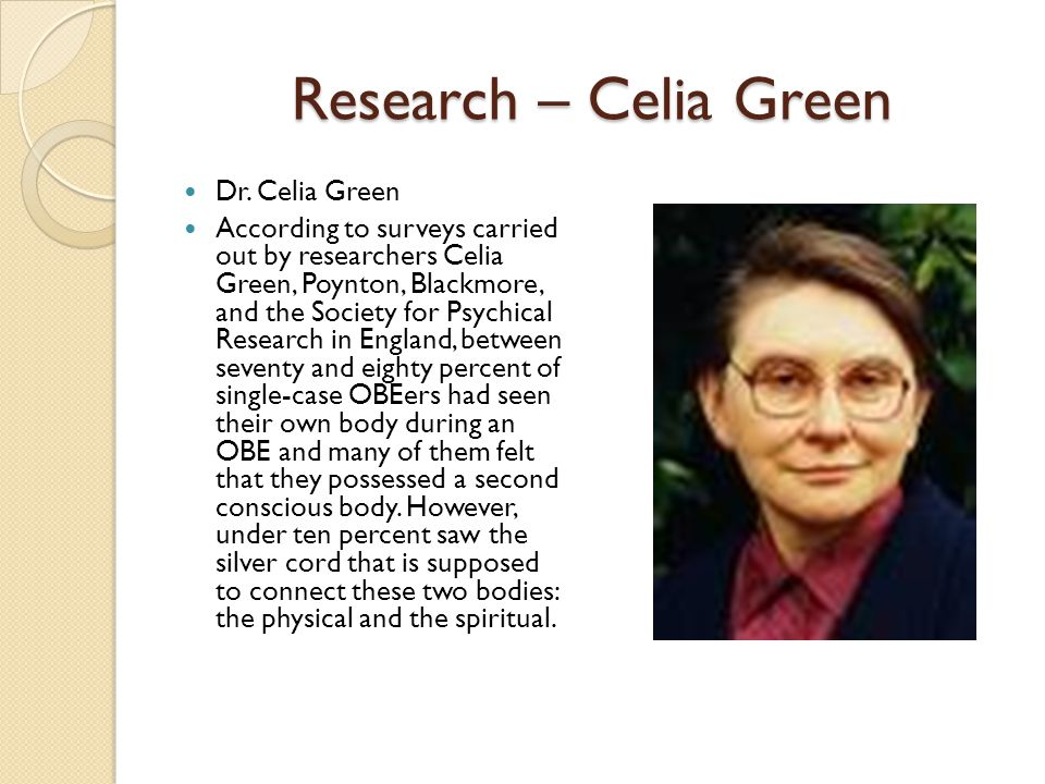 Research – Celia Green Dr.