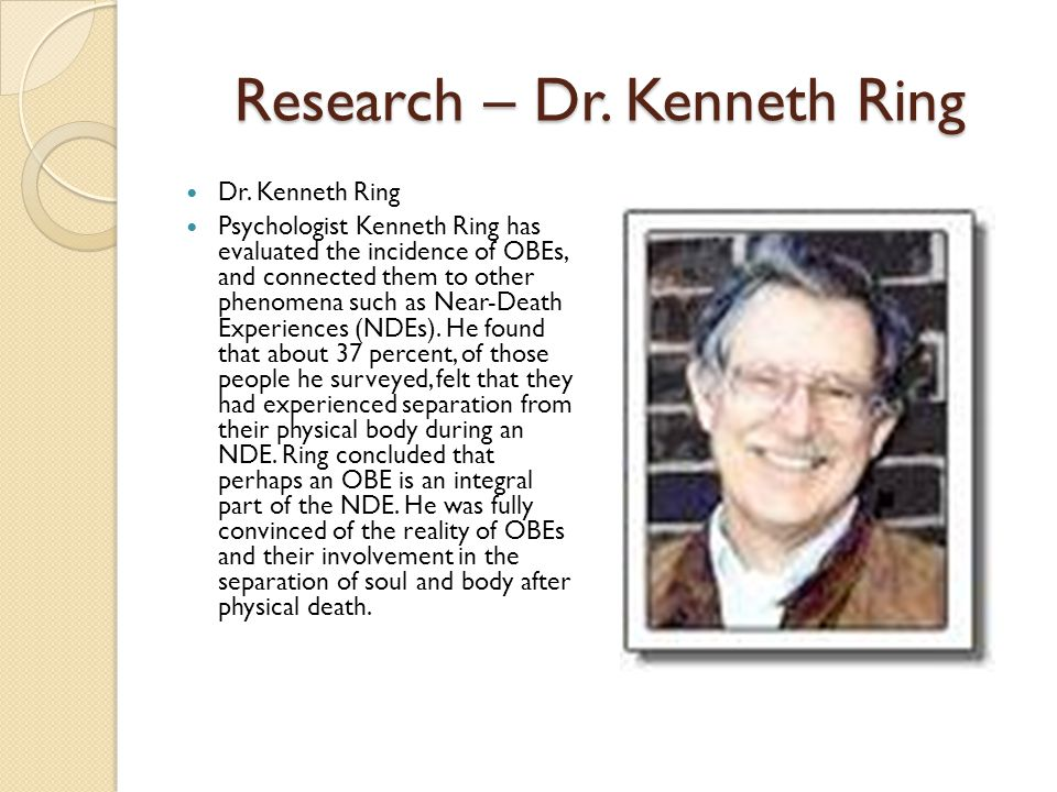 Research – Dr. Kenneth Ring Dr.