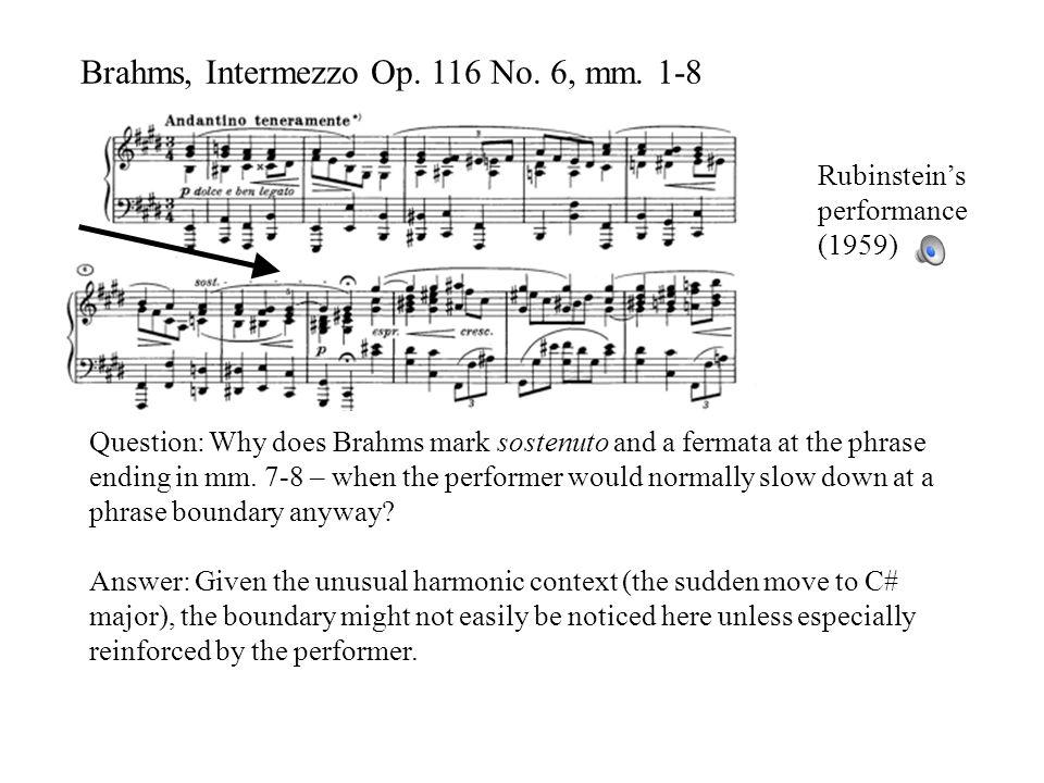 Brahms, Intermezzo Op. 116 No. 6, mm.
