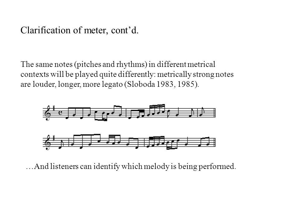 Clarification of meter, cont'd.
