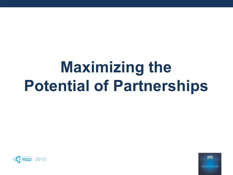 2015 Maximizing the Potential of Partnerships