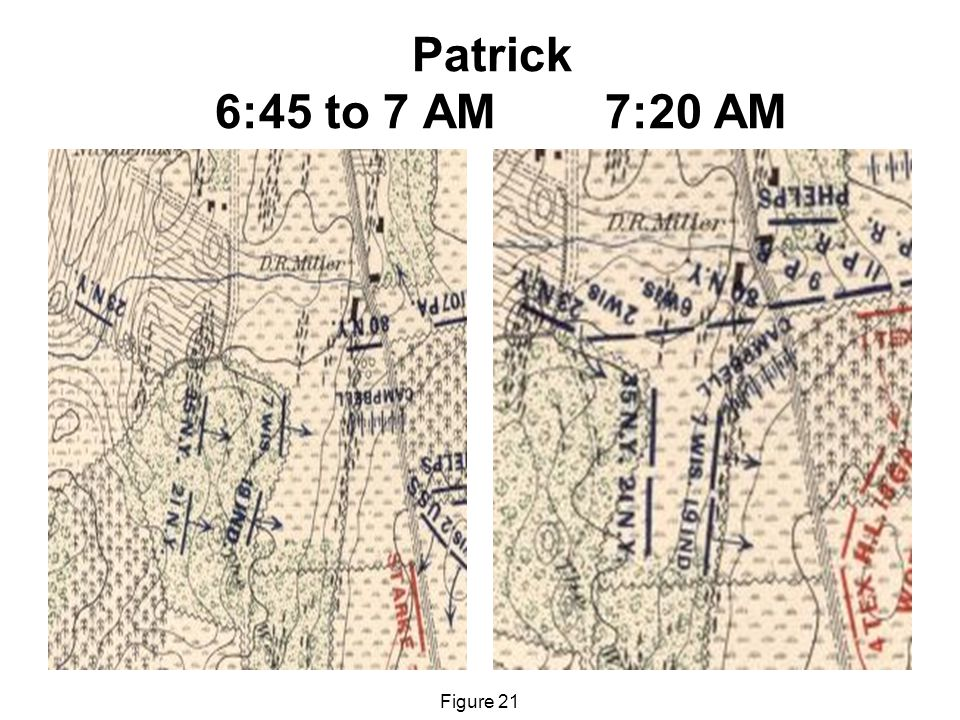 Patrick 6:45 to 7 AM 7:20 AM Figure 21