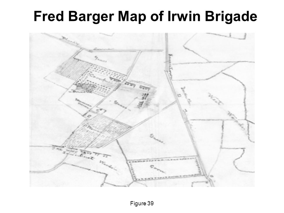 Fred Barger Map of Irwin Brigade Figure 39