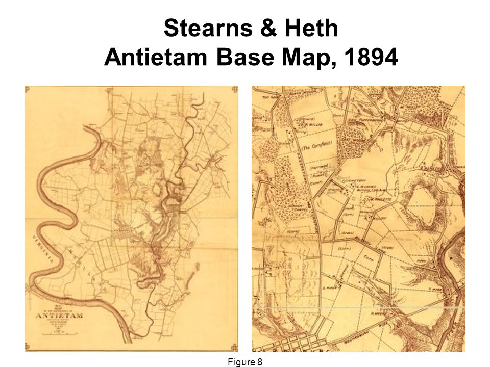 Stearns & Heth Antietam Base Map, 1894 Figure 8