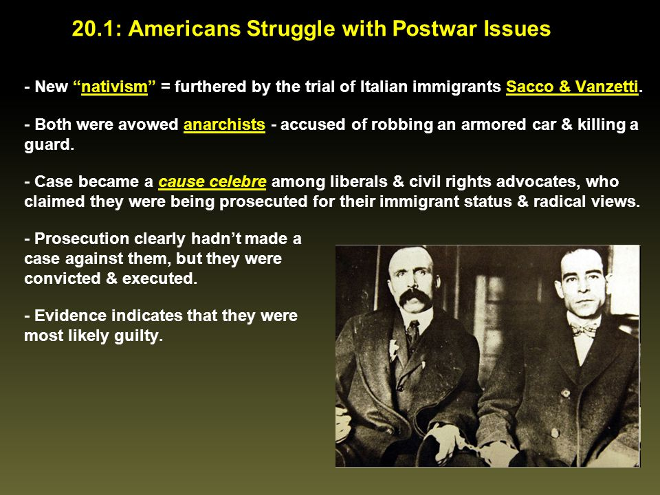 Today's Lesson Standard / Indicator Standard USHC-6: The student will demonstrate an understanding of the conflict between traditionalism & progressivism in the 1920s & the economic collapse & the political response to the economic crisis in the 1930s.