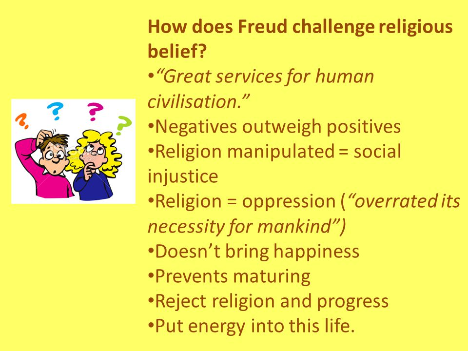 Religious Responses No evidence Promotes equality Makes people happy Jung – religion is positive and leads to good mental health If Freud had a religious experience himself, he would understand.