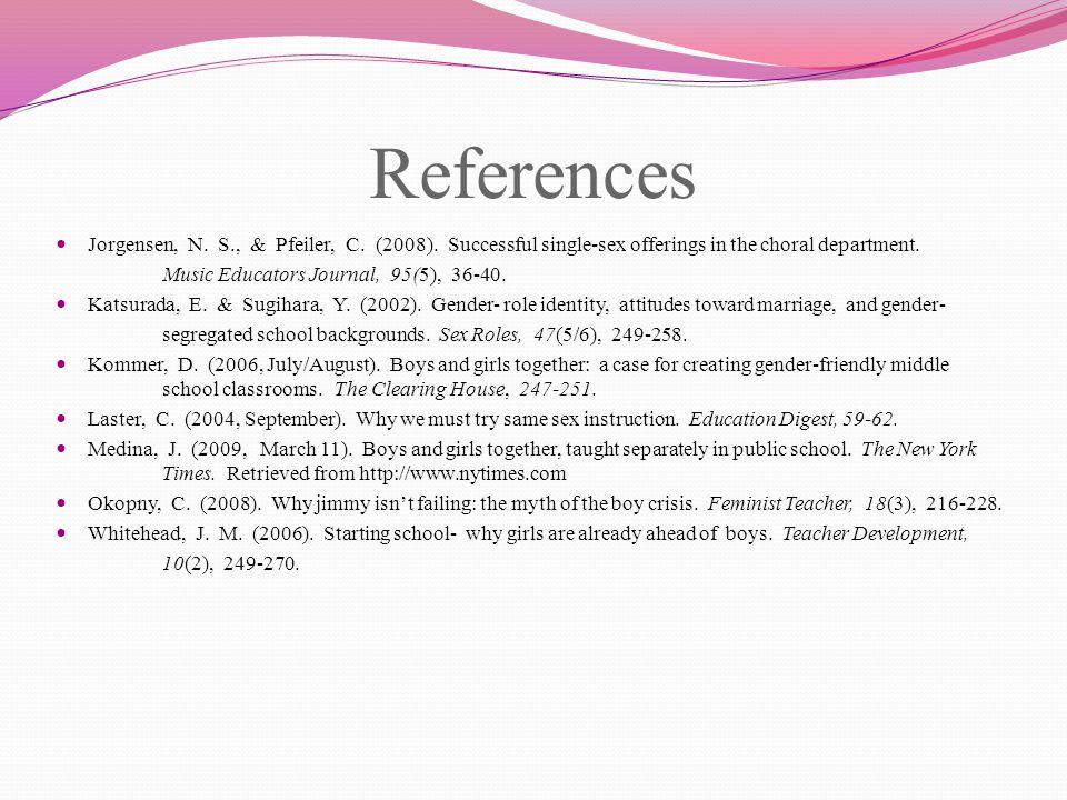 References Jorgensen, N. S., & Pfeiler, C. (2008).