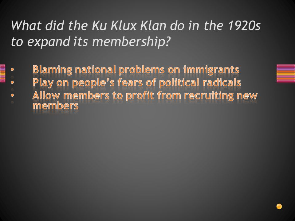 What did the Ku Klux Klan do in the 1920s to expand its membership