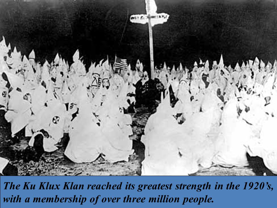 Over 3 million down to 50,000 in 1929 because Indiana Klan leader (Stevenson) assaulting his female assistant (death)= brings clarity and reality to the U.S.