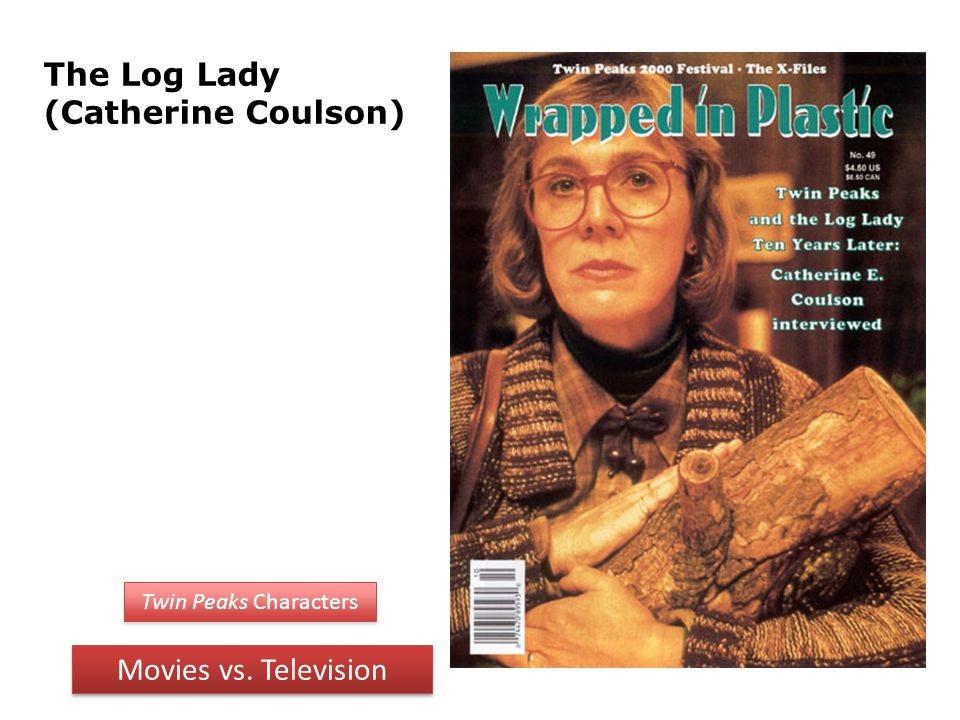 The Log Lady (Catherine Coulson) Twin Peaks Characters Movies vs. Television