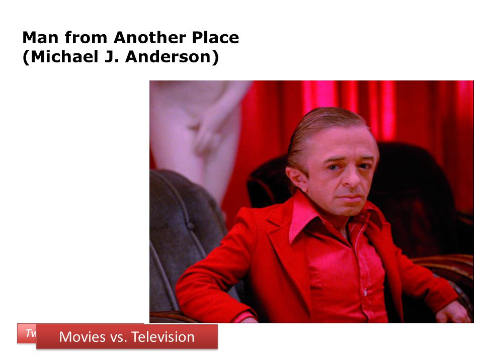 Man from Another Place (Michael J. Anderson) Twin Peaks Characters Movies vs. Television