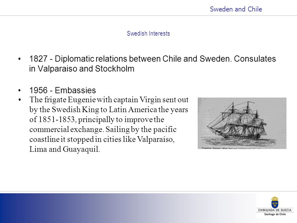 Swedish Interests 1827 - Diplomatic relations between Chile and Sweden.