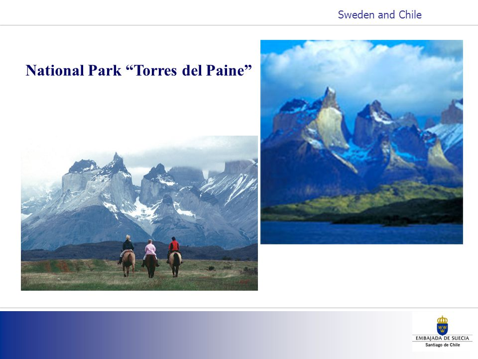 National Park Torres del Paine Sweden and Chile