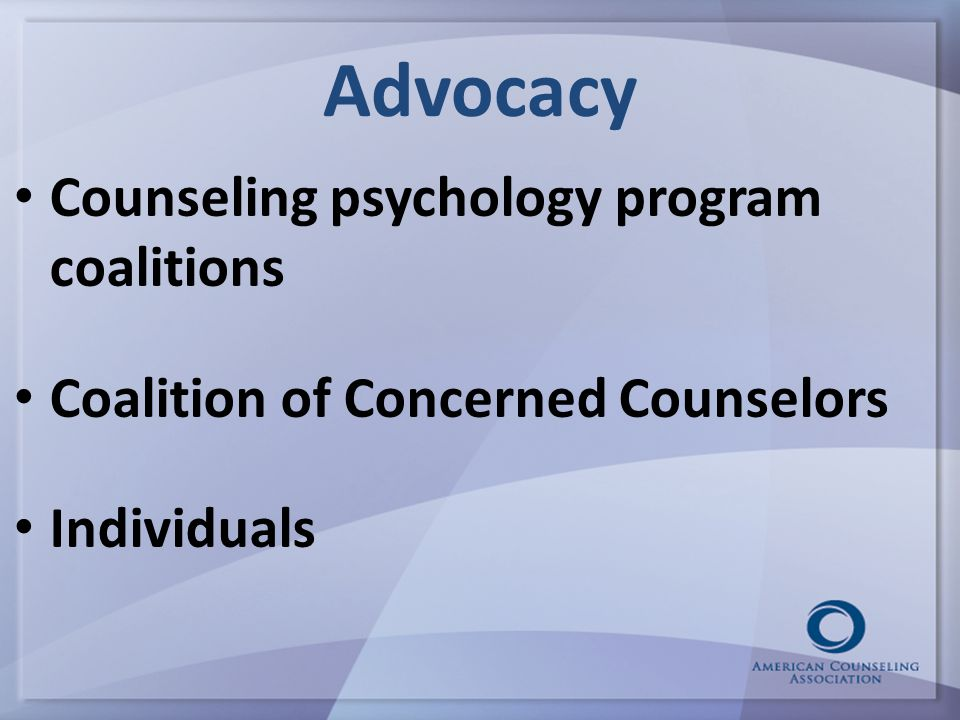 Advocacy Counseling psychology program coalitions Coalition of Concerned Counselors Individuals