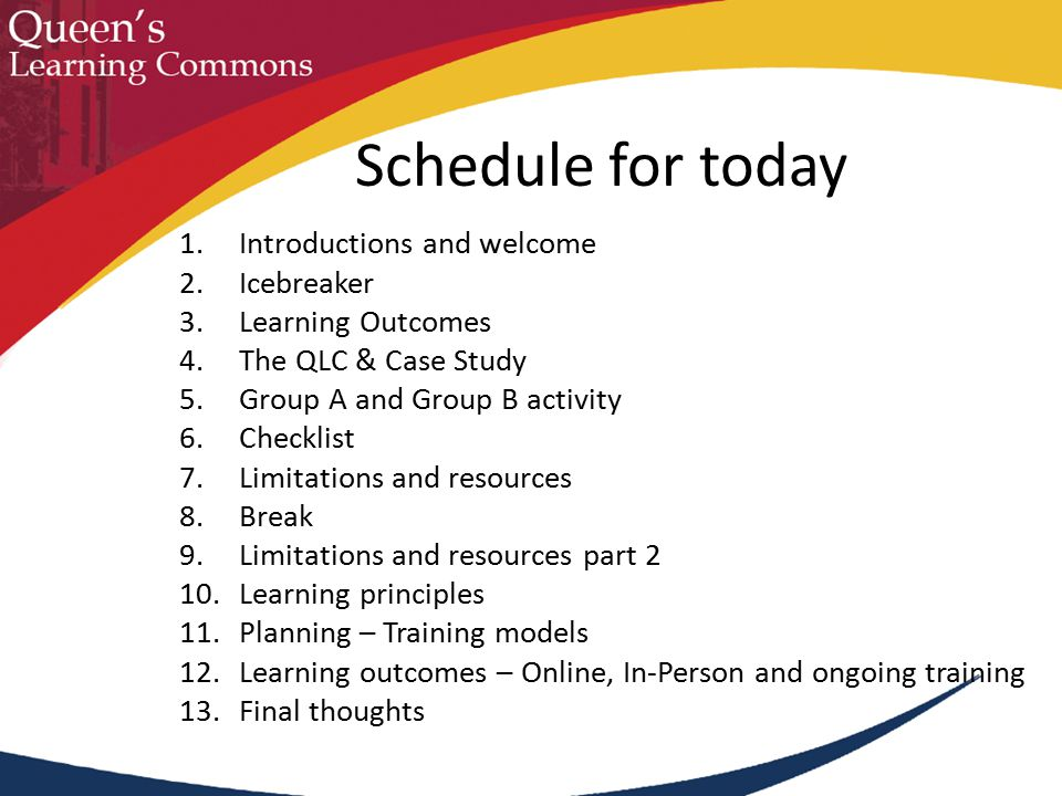 Learning Principles: What do you already know about adult learning?