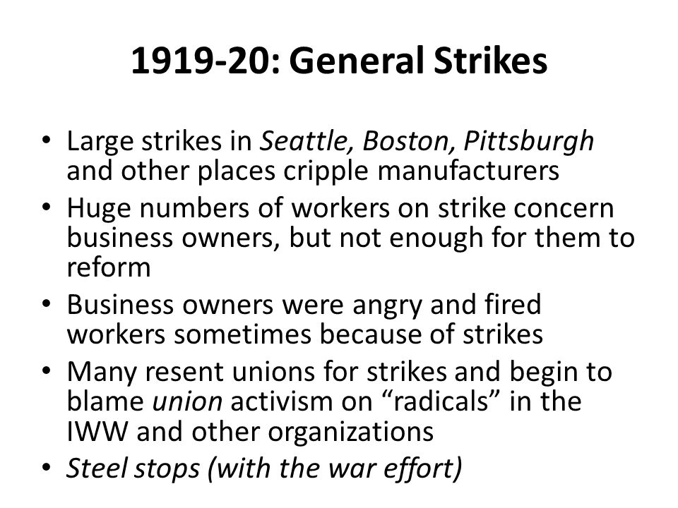 Wall Street Bombing September 16, 1920 Horse & Buggy dynamite bomb Over 30 killed, hundreds wounded Note: Remember we will not tolerate any longer.