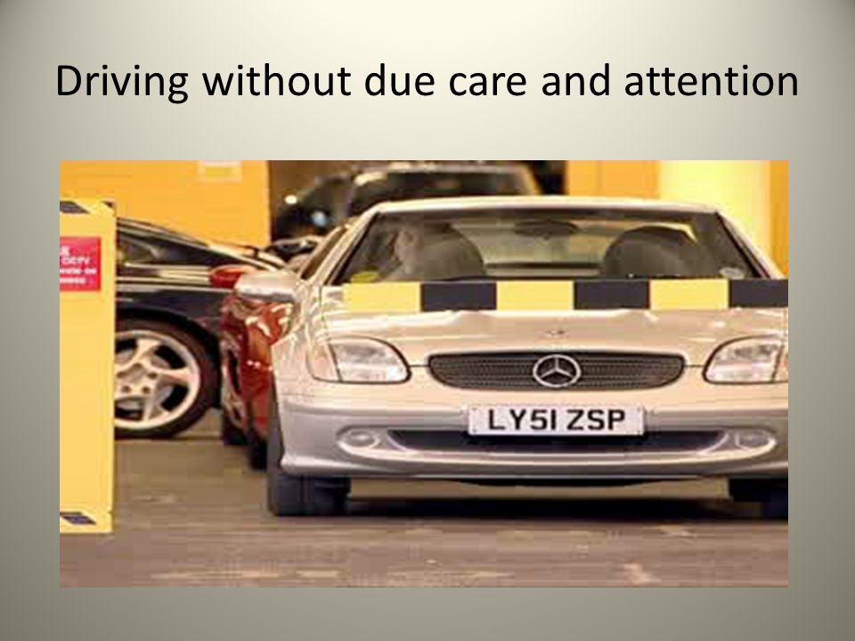 Driving without due care and attention