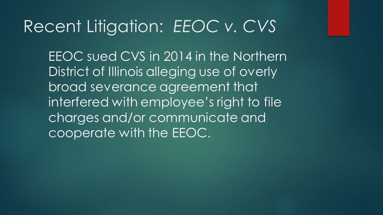 Recent Litigation: EEOC v.
