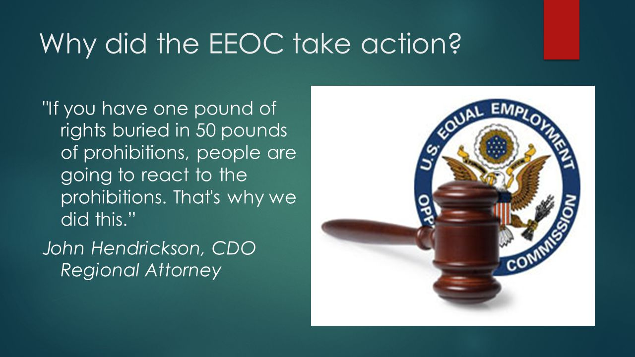 Why did the EEOC take action.