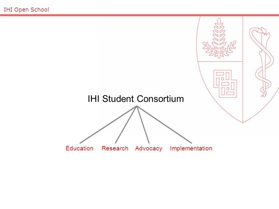 IHI Open School IHI Student Consortium EducationResearchAdvocacyImplementation