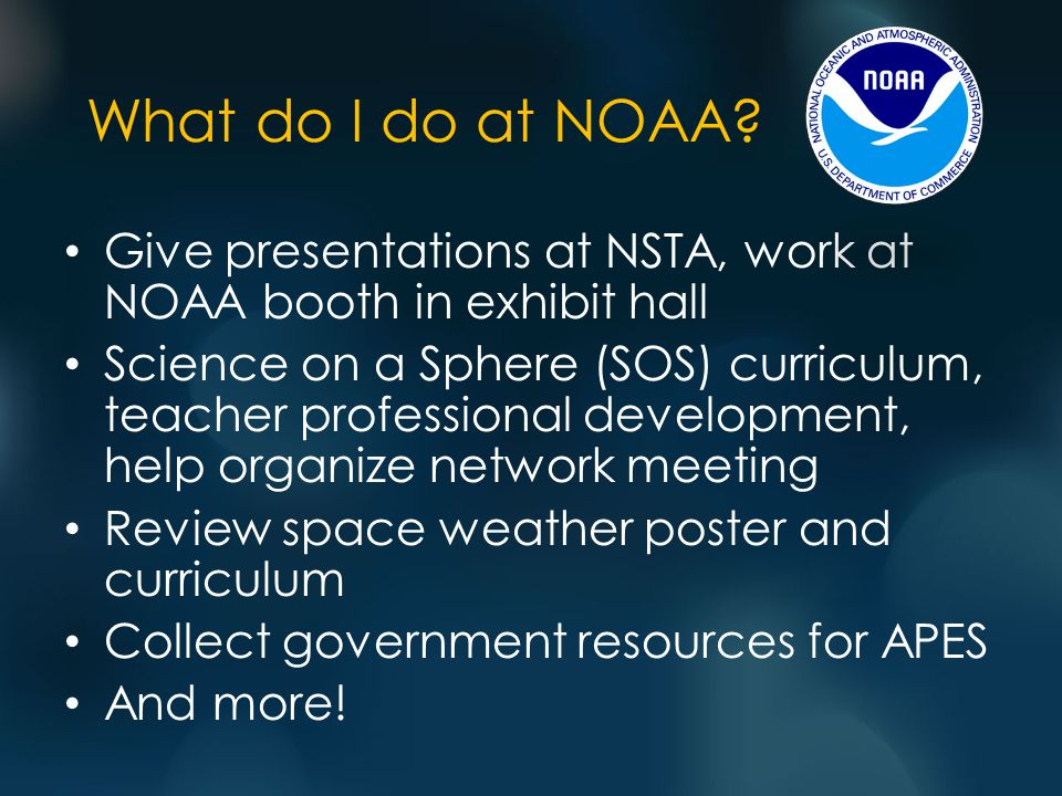What do I do at NOAA.