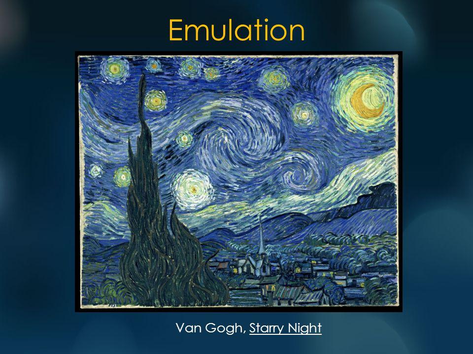Emulation Van Gogh, Starry Night