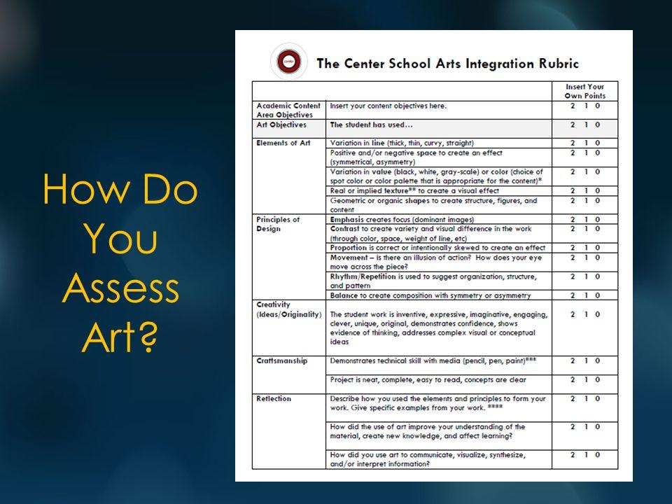 How Do You Assess Art