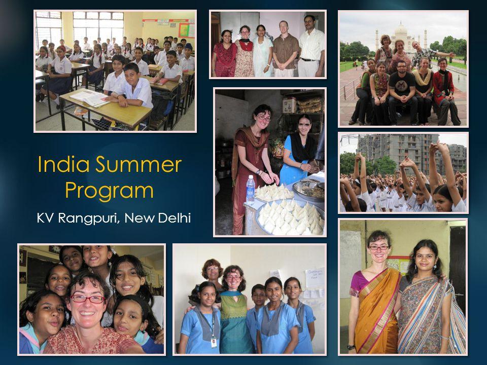 India Summer Program KV Rangpuri, New Delhi