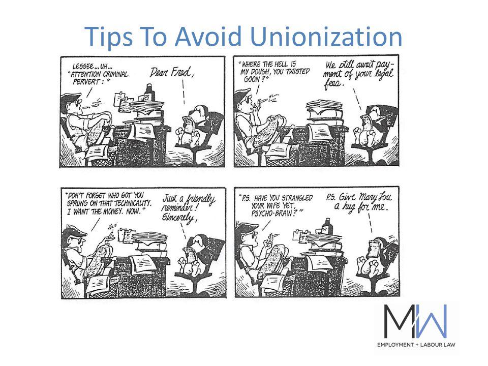 Tips To Avoid Unionization