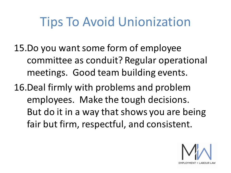 15.Do you want some form of employee committee as conduit.