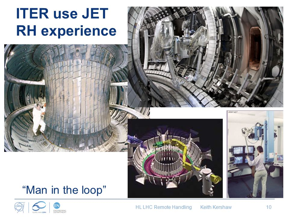 ITER use JET RH experience HL LHC Remote Handling Keith Kershaw10 Man in the loop