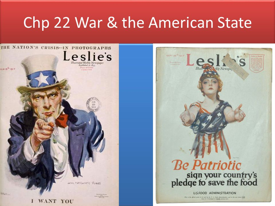Chp 22 War & the American State WWI