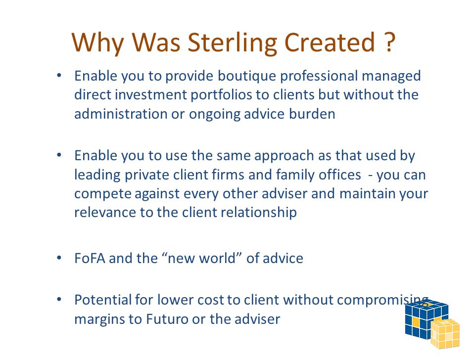 Why Was Sterling Created .