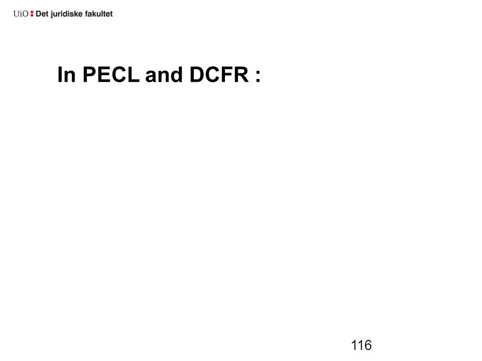 In PECL and DCFR : 116