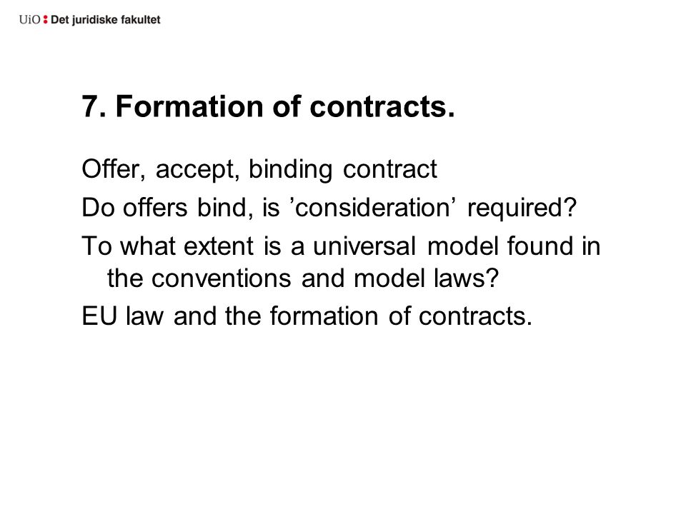 7.Formation of contracts.