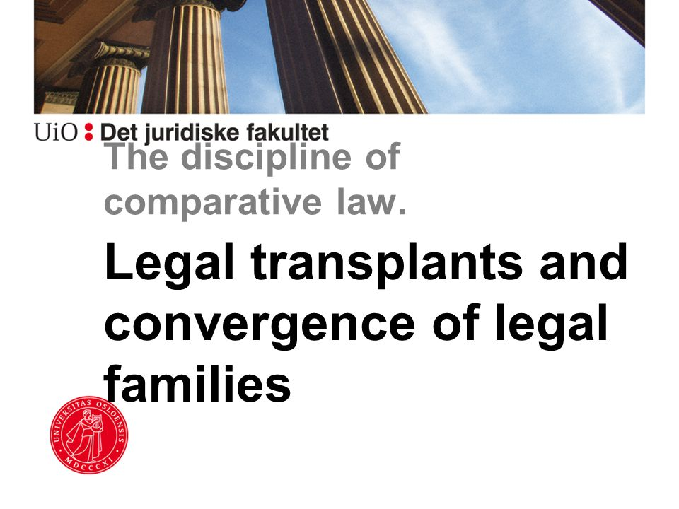 The discipline of comparative law. Legal transplants and convergence of legal families