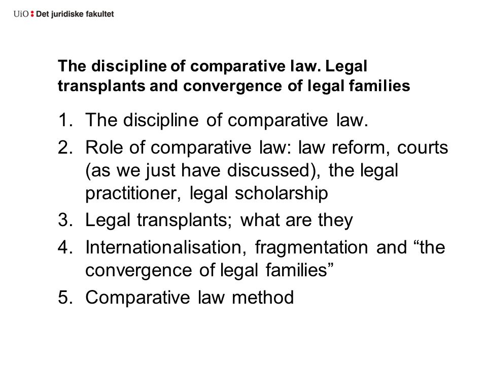 The discipline of comparative law.