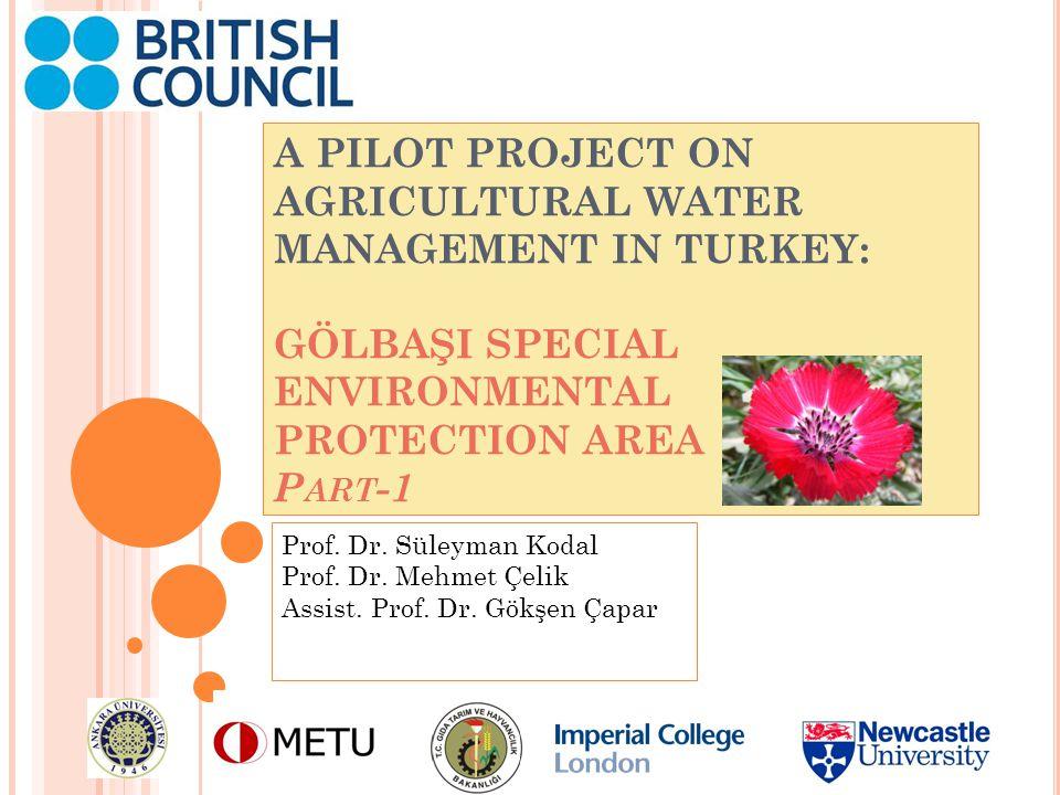 HE PARTNER INSTITUTIONS TURKEY Ankara University Water Management Institute Dept.