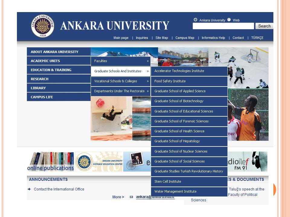 W ATER MANAGEMENT ıNSTıTUTE ( ENSTıTU - SU ) Enstitu-Su is one of the brand new institutes established by Ankara University.