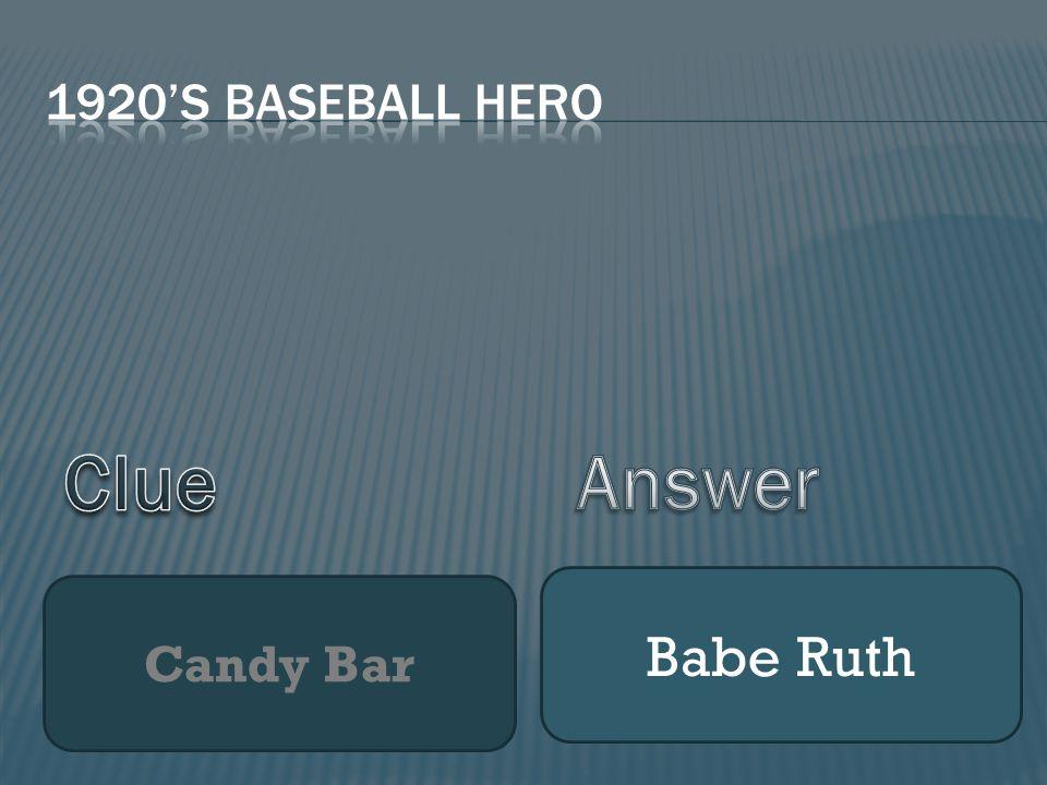 Candy Bar Babe Ruth
