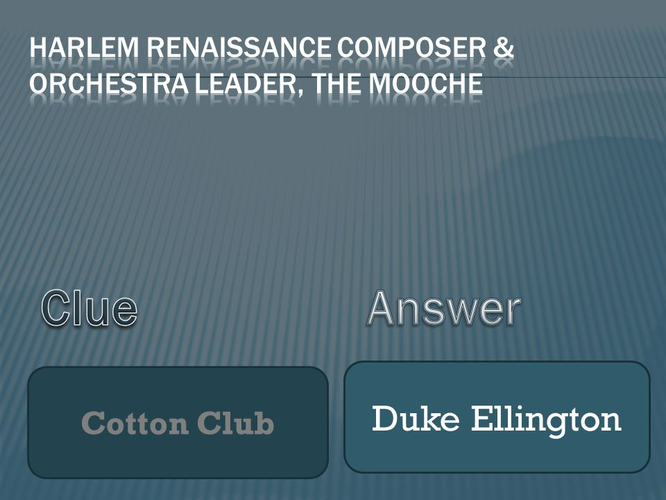 Cotton Club Duke Ellington