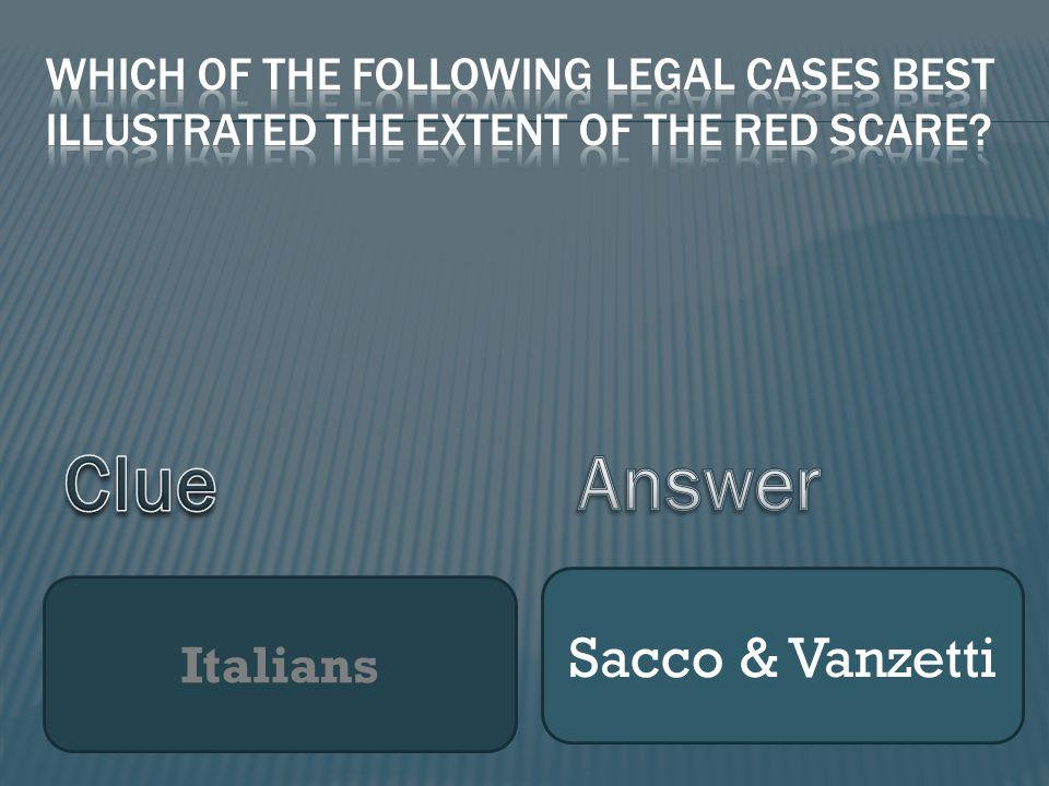 Italians Sacco & Vanzetti